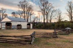 Averasboro Batalistyczny pole około 2018: Wojny Domowej stajnia i pole bitwy obraz royalty free
