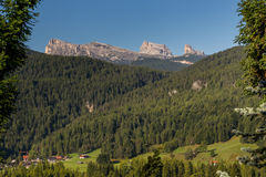 Averau and Cinque Tori from Cortina Royalty Free Stock Photos