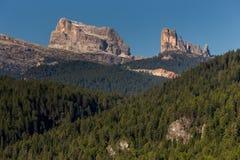 Averau and Cinque Tori from Cortina Stock Images