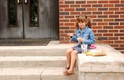 Avere pranzo Fotografie Stock Libere da Diritti
