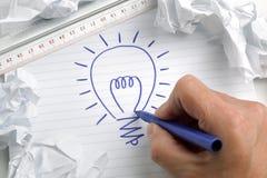 Avere un'idea luminosa Fotografia Stock
