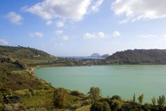 Averno Lake. Pozzuoli-(Naples)Upper view of Averno Lake Royalty Free Stock Photos