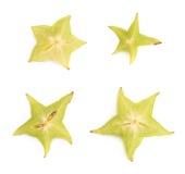 Averrhoa carambola starfruit cross-section Stock Photography