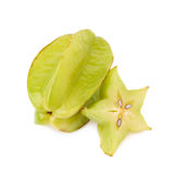 Averrhoa carambola starfruit isolated Royalty Free Stock Image