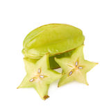 Averrhoa carambola starfruit isolated Royalty Free Stock Images