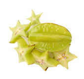 Averrhoa carambola starfruit isolated Royalty Free Stock Image