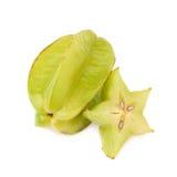 Averrhoa被隔绝的阳桃starfruit 免版税库存图片