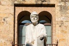 Averroes雕象在科多巴 免版税图库摄影