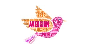 Aversion Animated Word Cloud stock illustration