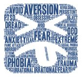 Aversion Word Cloud Stock Photography