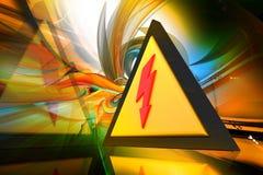 Avertissement électrique Image libre de droits