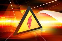 Avertissement électrique Images stock