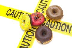 Avertissement élevé diététique de calorie image libre de droits