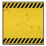 avertissement blanc de signe Photos libres de droits