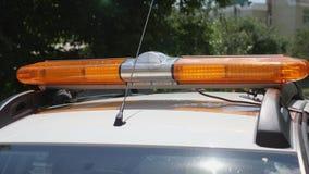 Avertissement d'ambre instantané lightbar à la voiture de sécurité banque de vidéos