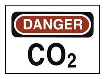 Avertissement d'anhydride carbonique Photos libres de droits