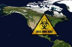 Avertissement d'Ebola Image stock