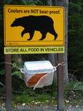 Avertissement d'ours Photos stock