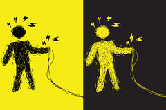 avertissement de décharge électrique Image libre de droits