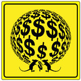 Avertissement de l'inflation Photographie stock libre de droits