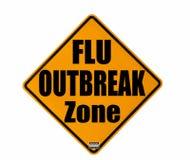 Avertissement de manifestation de grippe images libres de droits