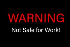 Avertissement de non sûr pour le signe de travail Images libres de droits