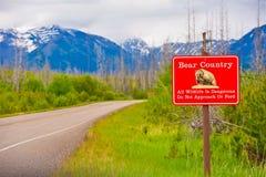 Avertissement de pays d'ours Images libres de droits