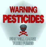 Avertissement de pesticide Images stock