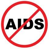Avertissement de SIDA Image libre de droits