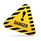 Avertissement de signe, danger Photographie stock
