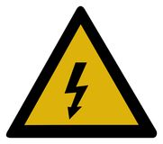 avertissement de tension de signe élevé Image stock