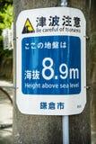 Avertissement de tsunami Photographie stock libre de droits