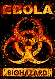 Avertissement de virus Ebola illustration stock