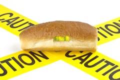 Avertissement diététique équilibré pour l'avertissement d'allergie de gluten/blé Images libres de droits
