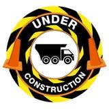 Avertissement en construction Image libre de droits