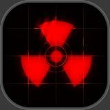 Avertissement nucléaire illustration stock