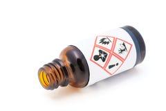 Avertissement pour les liquides dangereux. photo libre de droits