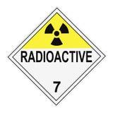 avertissement radioactif de plaquette Photographie stock libre de droits