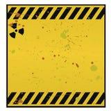 avertissement radioactif de signe Images libres de droits