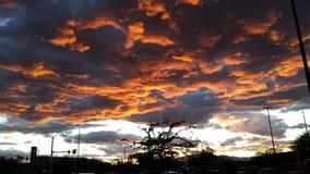 avertissement rouge de ciel de marin de plaisir de la nuit dangereuse s de matin Image stock