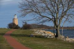 Avery Point Lighthouse Stockfotos