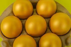 Aves de corral - huevos de oro Imagen de archivo