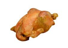 Aves de corral: Pollo asado aislado en el fondo blanco Fotografía de archivo libre de regalías