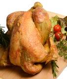 Aves de corral: Pollo asado rústico con romero Fotos de archivo