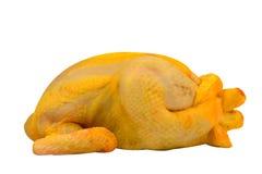 Aves de corral: Pollo crudo aislado en el fondo blanco Fotografía de archivo libre de regalías