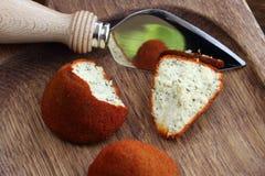 ` Avesnes - el queso francés original de Boulette d Fotos de archivo