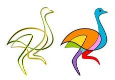 Avestruz abstracta stock de ilustración