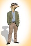 Avestruz-Hombre Imagen de archivo