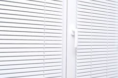 aveugle le blanc pour la fenêtre Photos libres de droits
