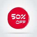 Avfärda erbjudandeprisetiketten, symbolet för reklamkampanjen i detaljhandel, försäljningspromomarknadsföring stock illustrationer